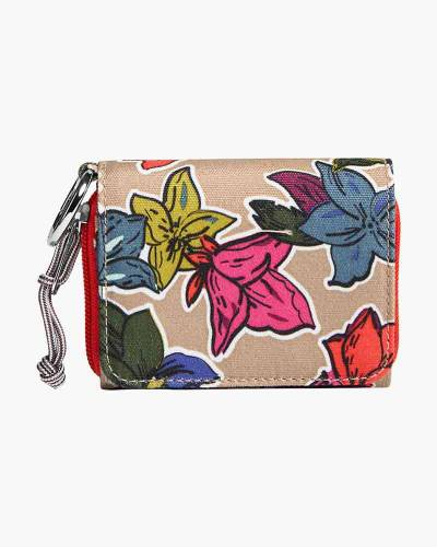 Lighten Up RFID Card Case in Falling Flowers