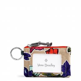 Vera Bradley Lighten Up Zip ID Case in Falling Flowers
