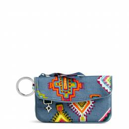 Vera Bradley Jen Zip ID Case in Painted Medallions