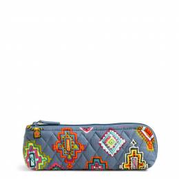 Vera Bradley Brush & Pencil Case in Painted Medallions