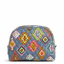 Vera Bradley Large Zip Cosmetic in Painted Medallions