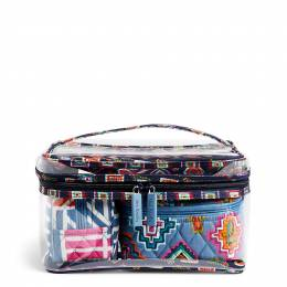 Vera Bradley Travel Cosmetic Set in Painted Medallions