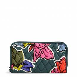 Vera Bradley RFID Georgia Wallet in Falling Flowers