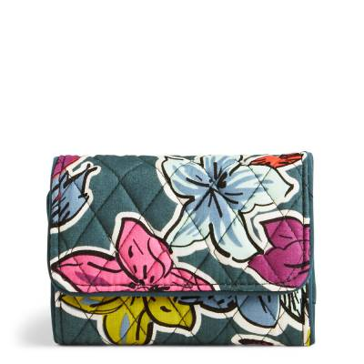 RFID Riley Compact Wallet in Falling Flowers