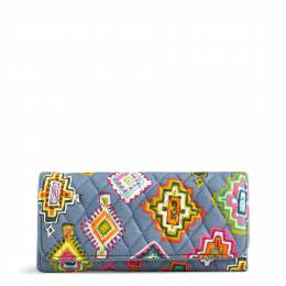 Vera Bradley RFID Trifold Wallet in Painted Medallions