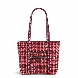 Vera Bradley Iconic Small Vera Tote in Houndstooth Tweed