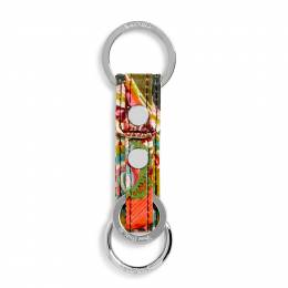 Vera Bradley Iconic Three Times a Keychain in Heirloom Paisley