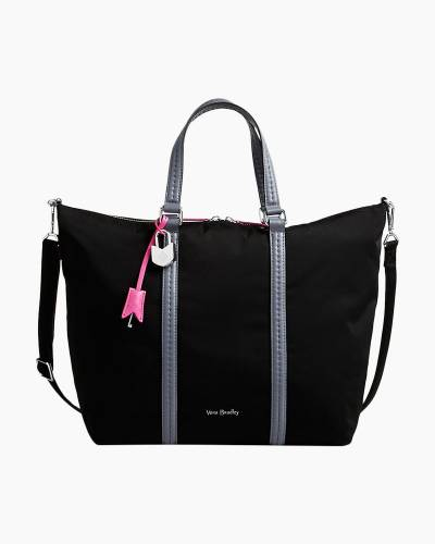 Midtown Small Tote in Preppy Poly Black