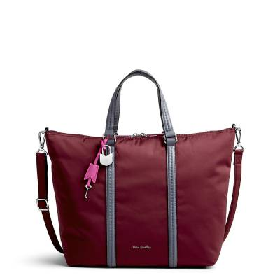 Midtown Small Tote in Preppy Poly Hawthorn Rose