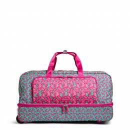 Vera Bradley Large Wheeled Duffel Bag in Ditsy Dot