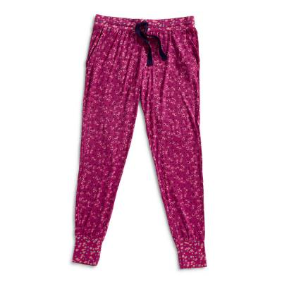 Lounge Pajama Pants in Ditsy Dot Berry