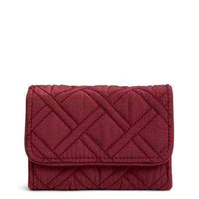 RFID Riley Compact Wallet in Hawthorn Rose