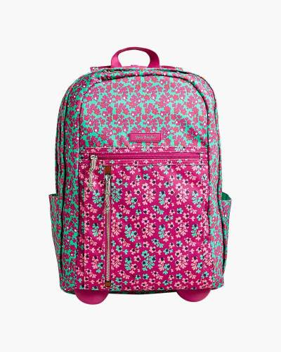 Rolling Backpack in Ditsy Dot
