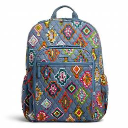 Vera Bradley Campus Tech Backpack in Painted Medallions