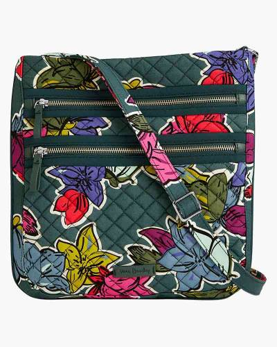 Iconic Triple Zip Hipster in Falling Flowers