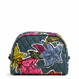 Vera Bradley Medium Zip Cosmetic in Falling Flowers