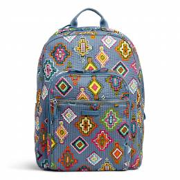 Vera Bradley Iconic Deluxe Campus Backpack in Painted Medallions