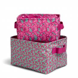 Vera Bradley Storage Bin Set in Ditsy Dot