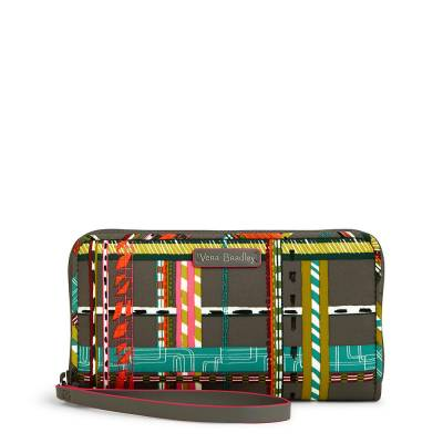Midtown RFID Wristlet in City Plaid
