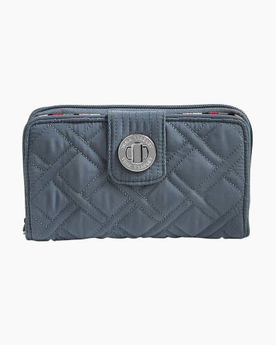 RFID Turnlock Wallet in Vera Vera Charcoal