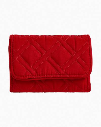 RFID Riley Compact Wallet in Vera Vera Cardinal Red