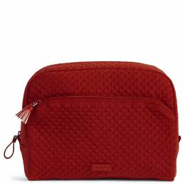 Vera Bradley Iconic Large Cosmetic in Cardinal Red