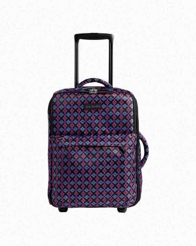 Small Foldable Roller Luggage in Diamond Foulard