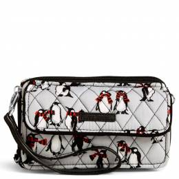 Vera Bradley RFID All in One Crossbody in Playful Penguin Gray