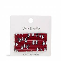 Vera Bradley Colorful Hair Elastics in Playful Penguin Gray