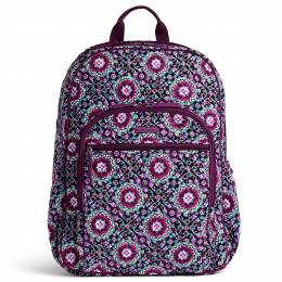 Vera Bradley Campus Tech Backpack in Lilac Medallion