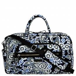 Vera Bradley Iconic Compact Weekender Travel Bag in Snow Lotus