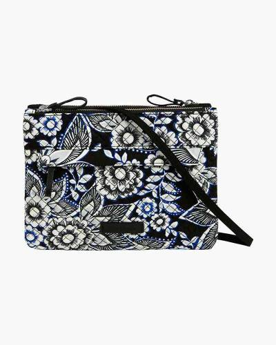 Iconic RFID Custom Crossbody in Snow Lotus