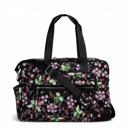 Vera Bradley Iconic Deluxe Weekender Travel Bag in Winter Berry