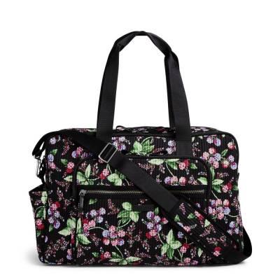 Iconic Deluxe Weekender Travel Bag in Winter Berry