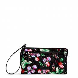 Vera Bradley RFID Front Zip Wristlet in Winter Berry