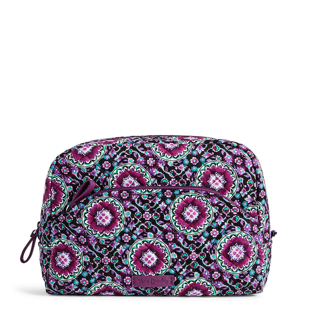 3ffba8144d50 Vera Bradley Iconic Large Cosmetic in Lilac Medallion