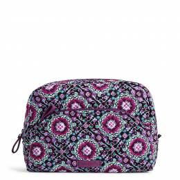 Vera Bradley Iconic Large Cosmetic in Lilac Medallion
