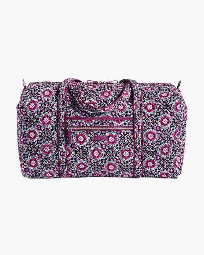 Iconic Large Travel Duffel in Lilac Medallion