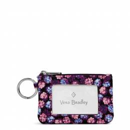 Vera Bradley Lighten Up Zip ID Case in Berry Burst