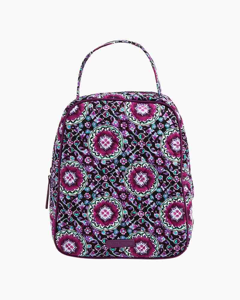 Vera Bradley Lunch Bunch Bag In Lilac Medallion The