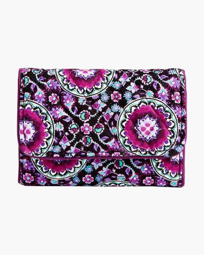RFID Riley Compact Wallet in Lilac Medallion