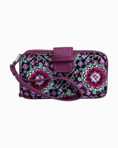 RFID Smartphone Wristlet in Lilac Medallion