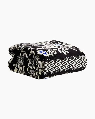 Throw Blanket in Snow Lotus