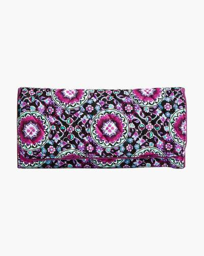 RFID Trifold Wallet in Lilac Medallion