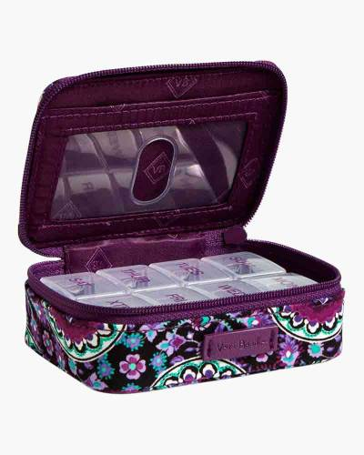 Iconic Travel Pill Case in Lilac Medallion