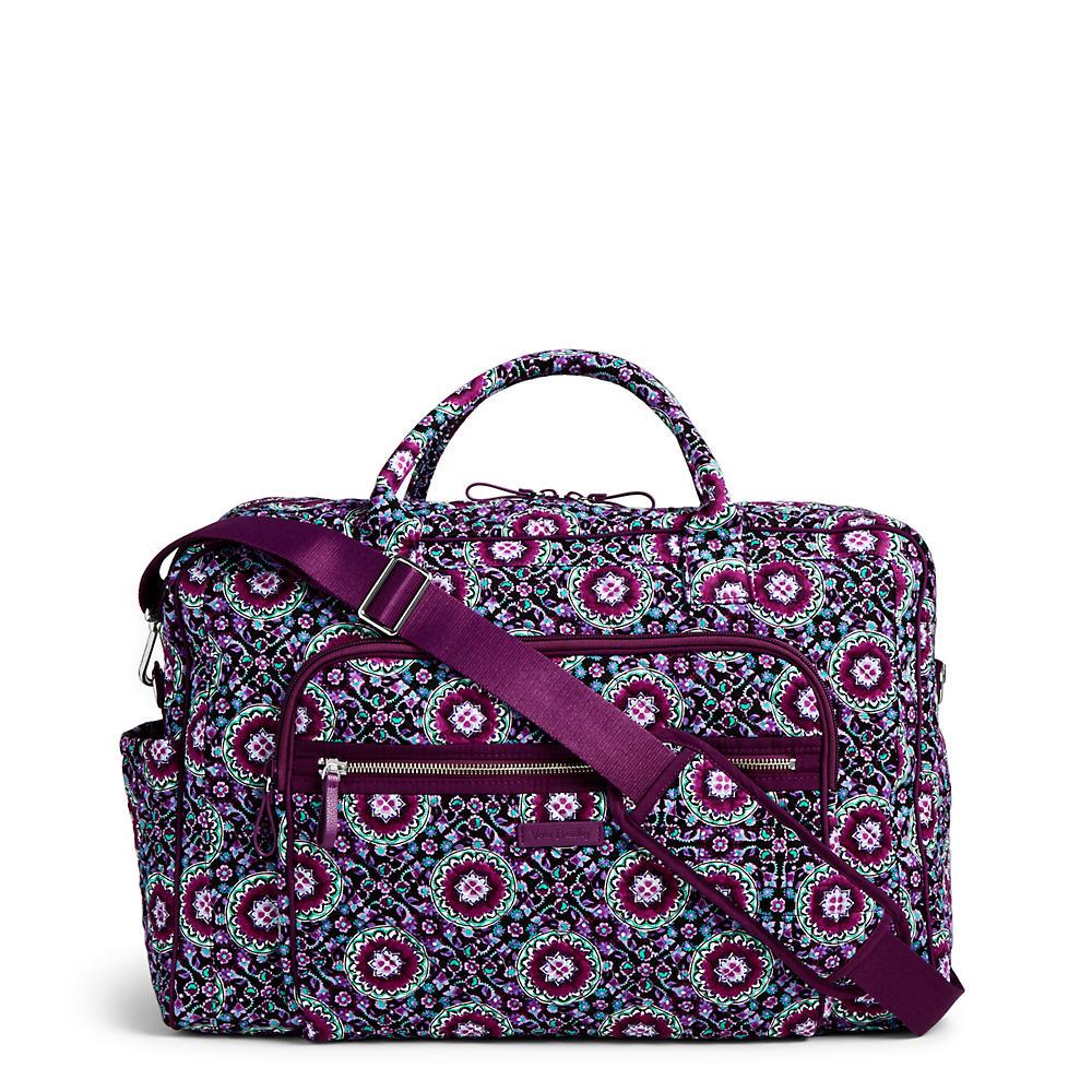 Vera Bradley Iconic Weekender Travel Bag In Lilac