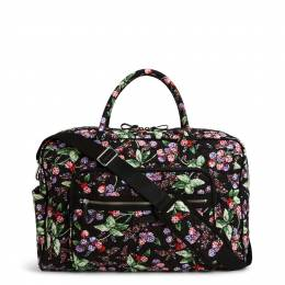 Vera Bradley Iconic Weekender Travel Bag in Winter Berry