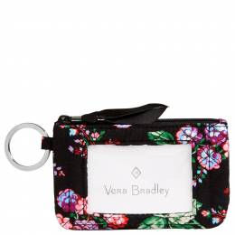 Vera Bradley Iconic Zip ID Case in Winter Berry