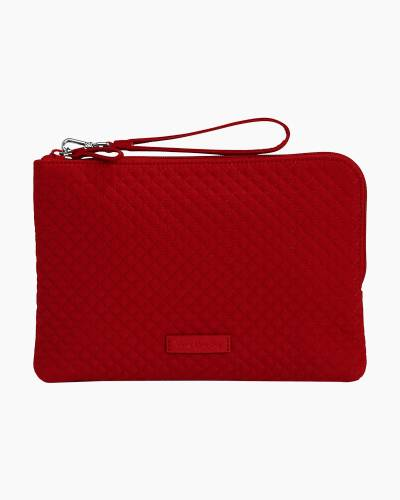 Iconic RFID Wristlet in Vera Vera Cardinal Red