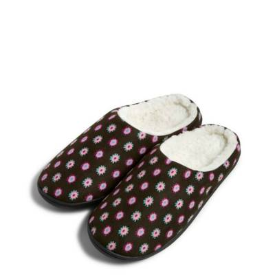 Printed Slippers in Berry Medallion